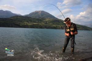 La pêche sur les lacs à khakasii